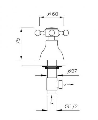 Dishwasher valve - Kensington, chrome