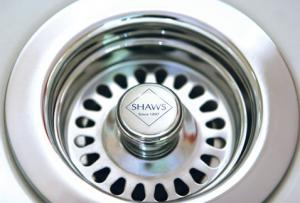 Basket strainer - Shaws chrome
