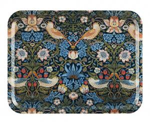 Bricka 43 x 33 cm - William Morris Strawberry Thief - sekelskifte - gammaldags inredning - retro - klassisk stil