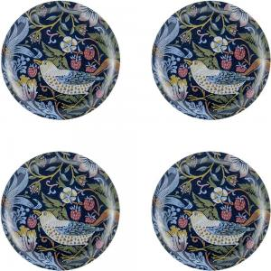 Coasters 4 pcs - William Morris, Strawberry Thief