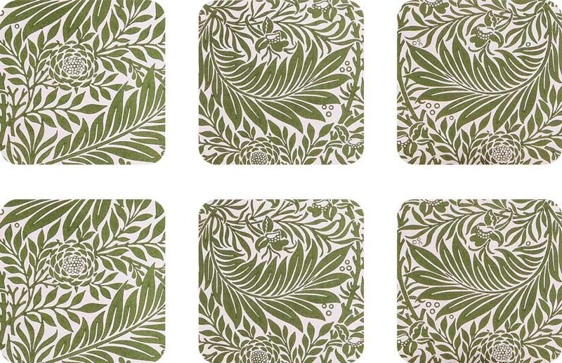 Coasters 6 pcs - William Morris, Larkspur