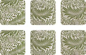 Coasters 6 pcs - William Morris, Larkspur