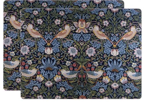 Bordstablett 2-pack - William Morris Strawberry Thief - sekelskifte - gammaldags inredning - retro - klassisk stil