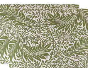 Place Mats 2-pcs  - William Morris, Strawberry Thief green