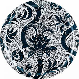 Bricka 49 cm - William Morris Indian Indigo - sekelskiftesstil - gammaldags inredning - retro - klassisk