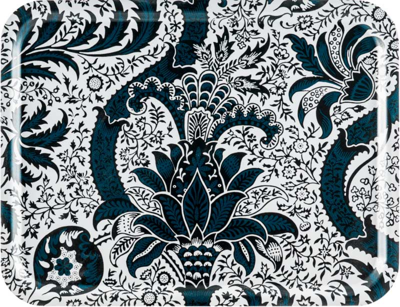 Bricka 43 x 33 cm - William Morris Indian Indigo - sekelskiftesstil - gammaldags inredning - retro - klassisk