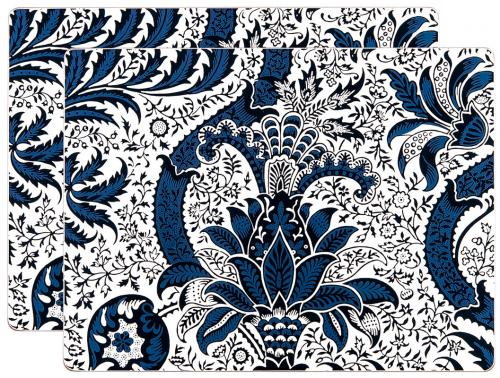 Bordstablett 2-pack - William Morris, Indian Indigo