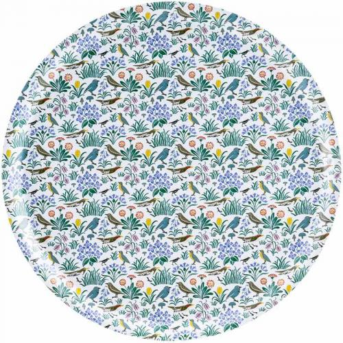 Bricka 38 cm - William Morris My Garden - sekelskifte - gammaldags inredning - retro - klassisk stil