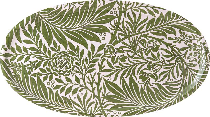 Tray oval 50 x 28 cm - William Morris, Larkspur