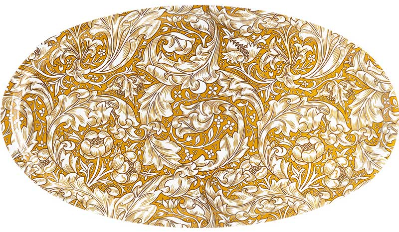 Tray oval 50 x 28 cm - William Morris, Bachelors Button