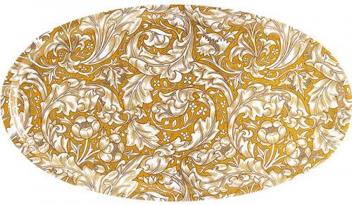 Bricka oval 50 x 28 cm - William Morris, Bachelors Button - gammal stil
