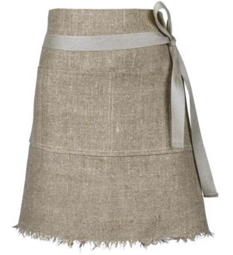 Waist apron - Linen 50 cm natural - old style - vintage style - classic interior - retro