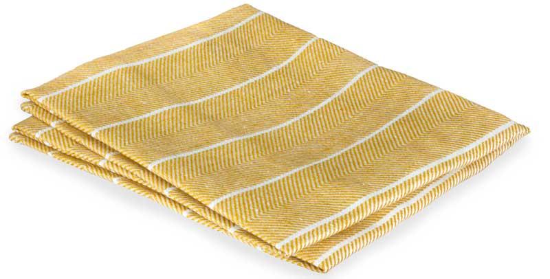 Kitchen towel - Herringbone pattern, ocher