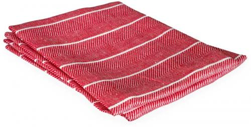 Kitchen towel - Herringbone pattern, red