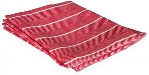 Kökshandduk av linne - Fiskbensmönster, röd