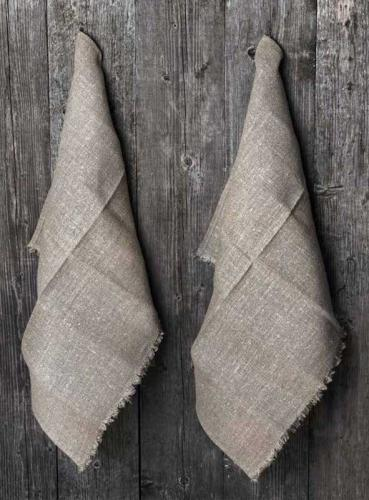Towel 2-pcs Linen 50x70 cm, burlap natural