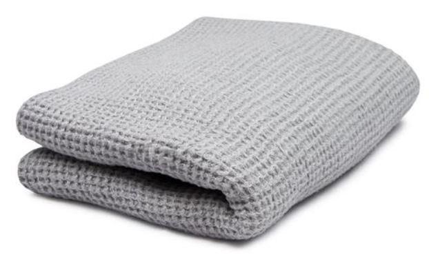 Guest towel - Washed Linen 50x65 cm, light grey