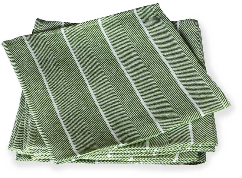 Napkin - Herringbone pattern, green