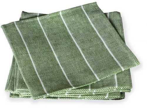 Napkin - Herringbone pattern, green