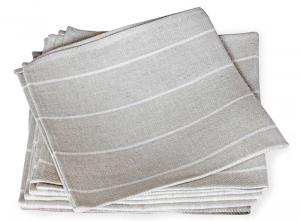 Napkin - Herringbone pattern, natural