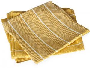 Napkin - Herringbone pattern, ocher