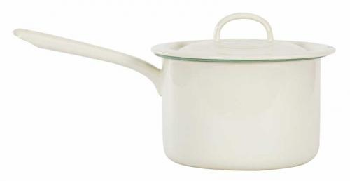 Kockums pot 2,3 - Enamel white/green