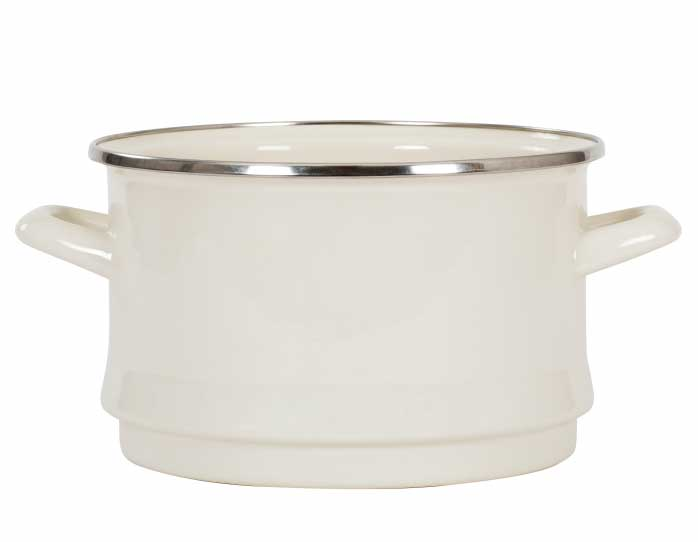 Kockums Colander - Enamel white/chrome