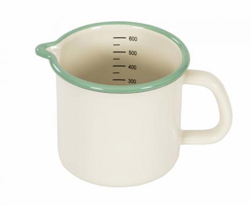Mug Vernier Scale - Enamel cream lux