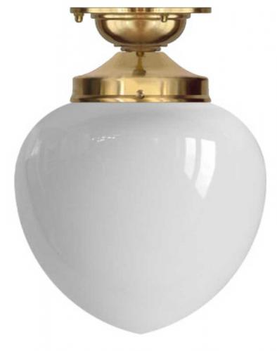 Bathroom Lamp - Lundkvist 100 ceiling lamp brass white glass