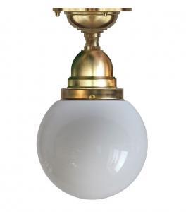 Taklampe - Byström 80 messing, opalhvit kuppel - arvestykke - gammeldags dekor - klassisk stil - retro