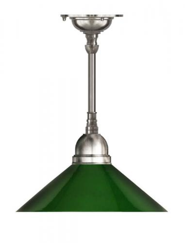 Ceiling Lamp - Byström 60 brass, nickel green shade