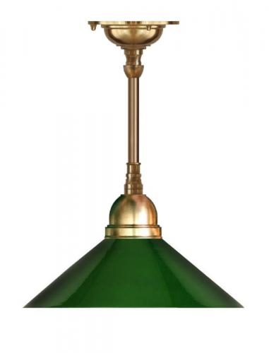 Ceiling Lamp - Byström 60 brass, green shade