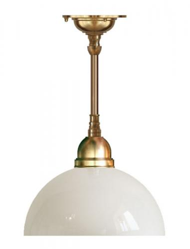 Ceiling Lamp - Byström 60 brass, white hemispherical glass