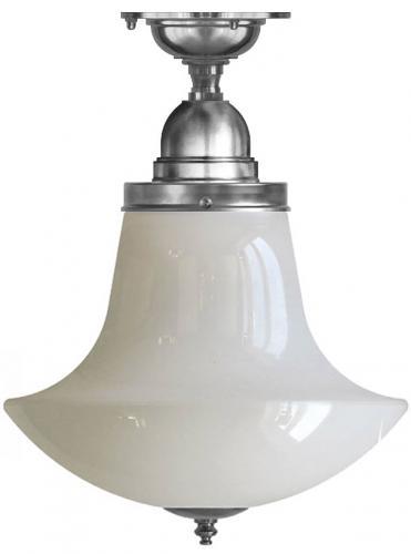 Taklampe - Byström 100 nikkel, klokkeformet skjerm