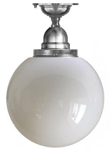 Ceiling Lamp - Byström 100 nickel, large globe shade