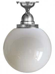 Bathroom Ceiling Lamp - Byström 100 nickel, large globe shade