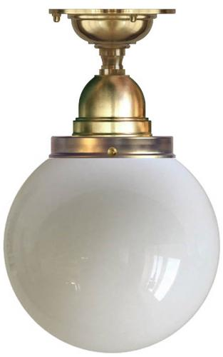 Bathroom Ceiling Lamp - Byström 100 brass, globe shade