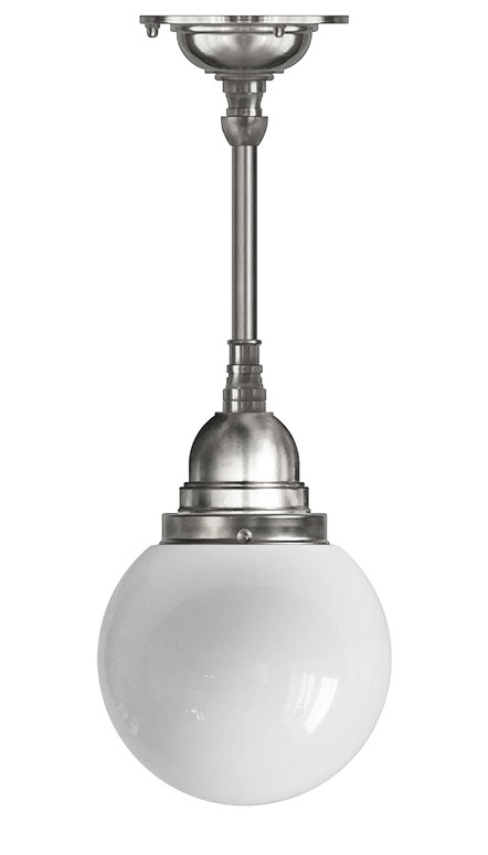 Ceiling Lamp - Byström pendant 180 nickel, globe shade