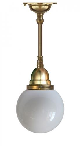 Bathroom Ceiling Lamp - Byström pendant 80 brass, globe shade