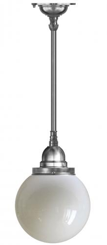 Bathroom Ceiling Lamp - Byström 100 nickel, globe shade