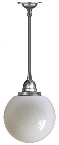 Ceiling Lamp - Byström pendant 100 nickel, large globe