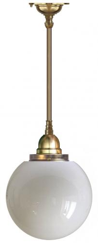 Bathroom Ceiling Lamp - Byström 100 brass, large globe shade