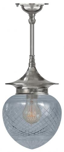 Bathroom Ceiling Lamp - Dahlberg pendant 100, nickel drop shade