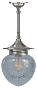 Ceiling Lamp - Dahlberg pendant 100 nickel, drop shade