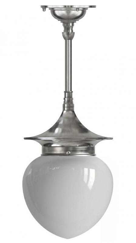 Ceiling Lamp - Dahlberg pendant 100, nickel white drop