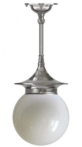 Ceiling Lamp - Dahlberg pendant 100, nickel globe shade