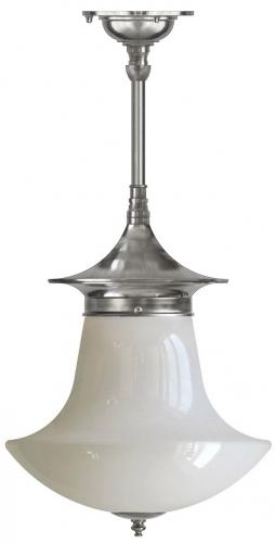 Bathroom Ceiling Lamp - Dahlberg pendant 100, nickel anchor shade