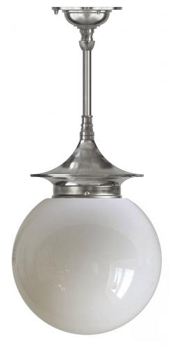 Bathroom Ceiling Lamp - Dahlberg pendant 100, nickel globe shade