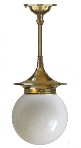 Bathroom Ceiling Lamp - Dahlberg pendant 100, brass globe shade