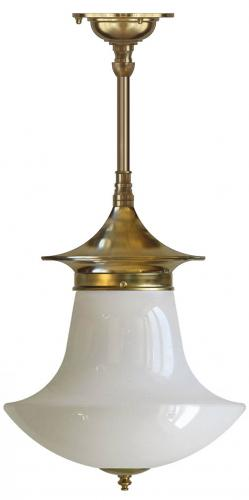 Bathroom Ceiling Lamp - Dahlberg pendant 100, brass anchor shade